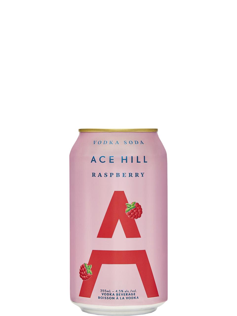 Ace Hill Raspberry Vodka Soda 355ml Can