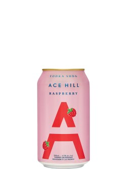 Ace Hill Raspberry Vodka Soda 355ml Can