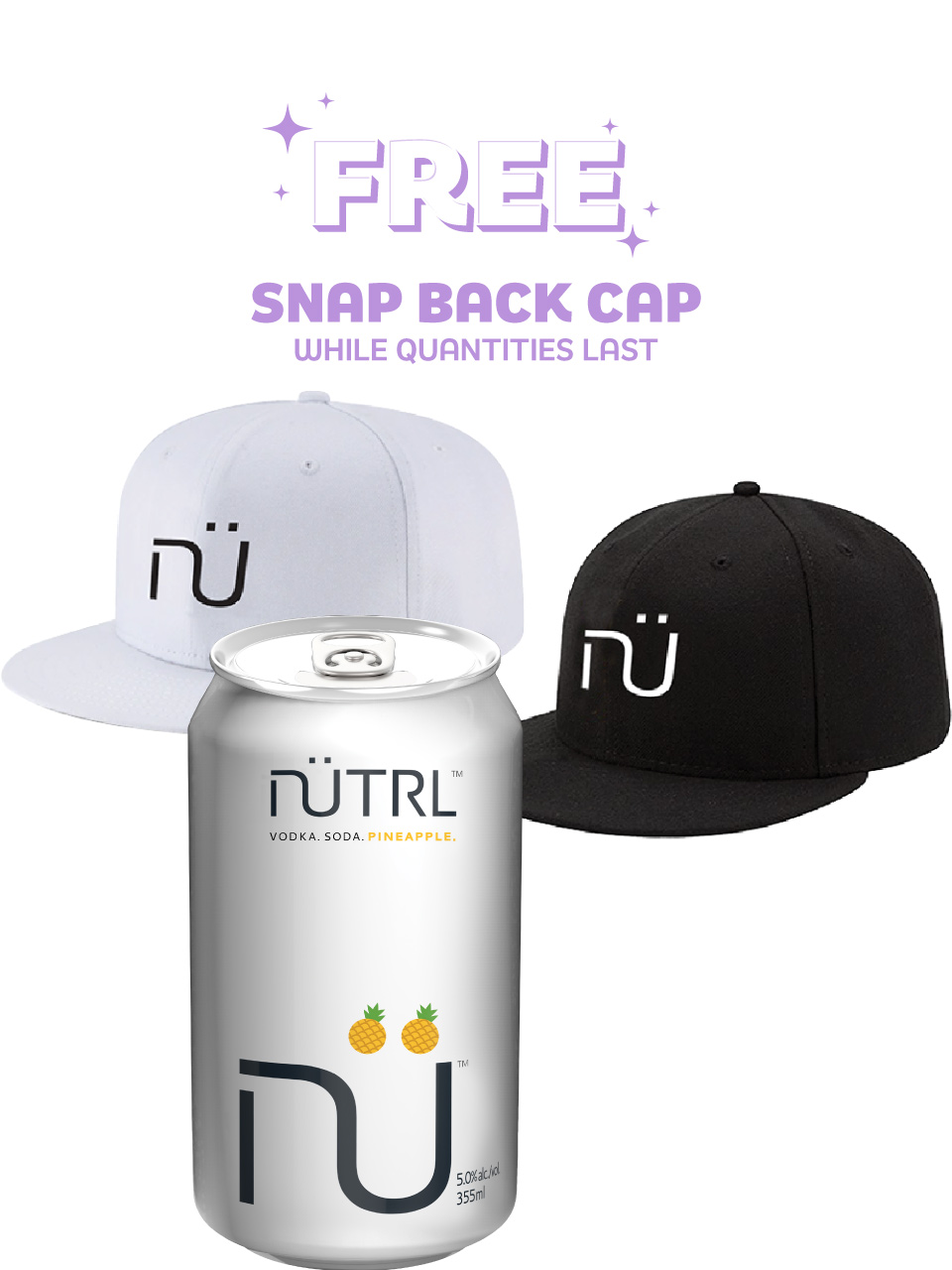 NUTRL Vodka Soda Pineapple 6 Pack Cans