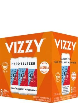 Vizzy Hard Seltzer Blueberry Pomegranate 6pk Cans