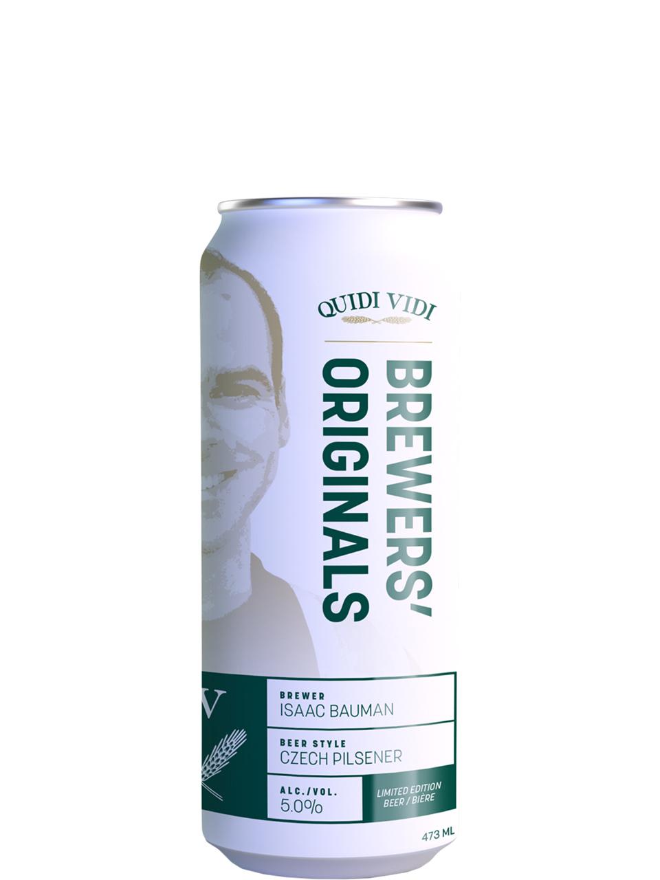 Quidi Vidi Brewers' Originals Czech Pilsener 473ml