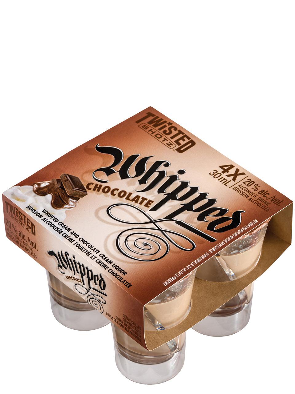 Twisted Shotz Whipped Chocolate 4pk