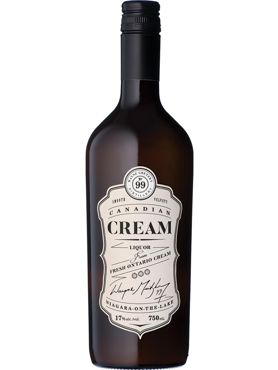 Wayne Gretzky Canadian Cream Liquor