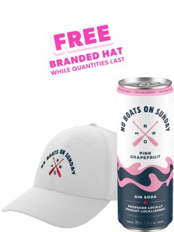 No Boats on Sunday Pink Gin Soda 6 Pack Cans