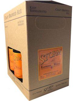 Storm Raspberry Wheat Ale 6 Pack Bottles