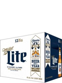 Miller Lite 12 Pack Bottles