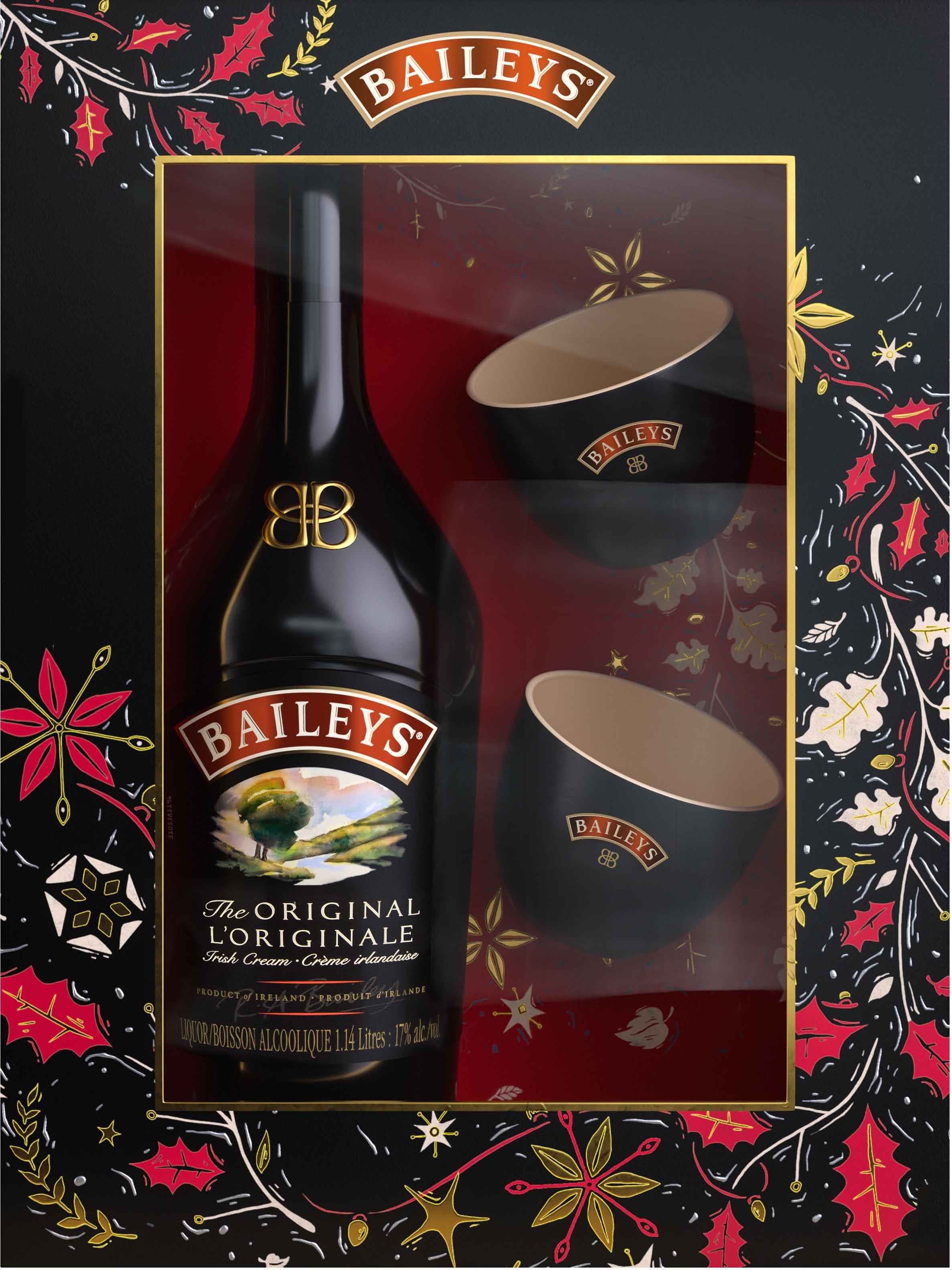 Baileys Irish Cream with 2 Branded Bowls Gift Pk