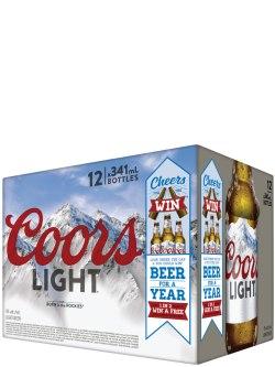 Coors Light 12 Pack Bottles