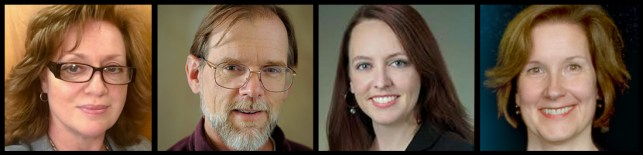 Photos of the Data Science at NLM Training Program Team; Dianne Babski, Peter Cooper, Lisa Federer and Anna Ripple