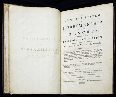 An open book displaying the title page.