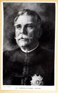 A scrpbook photograph of French Field Marshal Joffre.