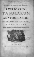 """A title page from an anatomical atlas with the stamp of the Surgeon General's Library on it, hand annotated """"no.1""""."""