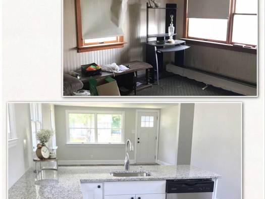 Living Room - Before & After Renovations