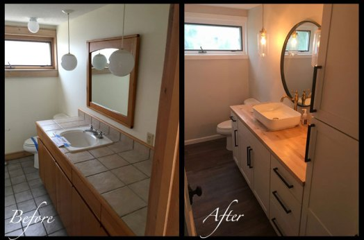 Guest Bathroom - Before & After Renovations