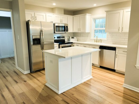 Kitchen island is a gathering spot for entertaining