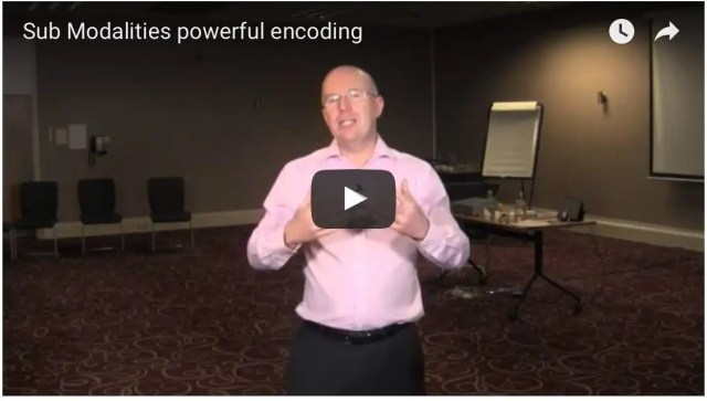 Sub Modalities Powerful Encoding - building on the last video we take this skill and deepen our understanding