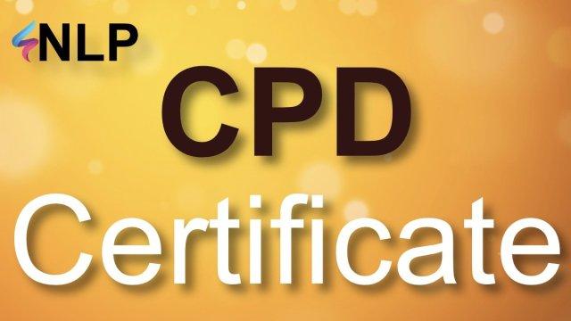 NLP CPD CERTIFICATE