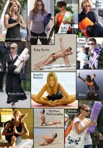 Celeb yoga