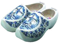 wooden shoes white