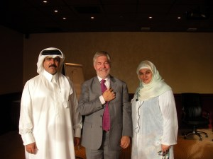 Bridadier Abdulla Saif Al.Naimi and Amira A. Rehami with Phillip Holt