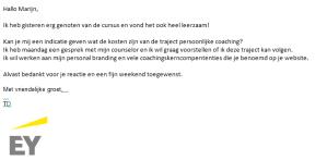 Coaching EY Marijn Dane Hattem Zwolle