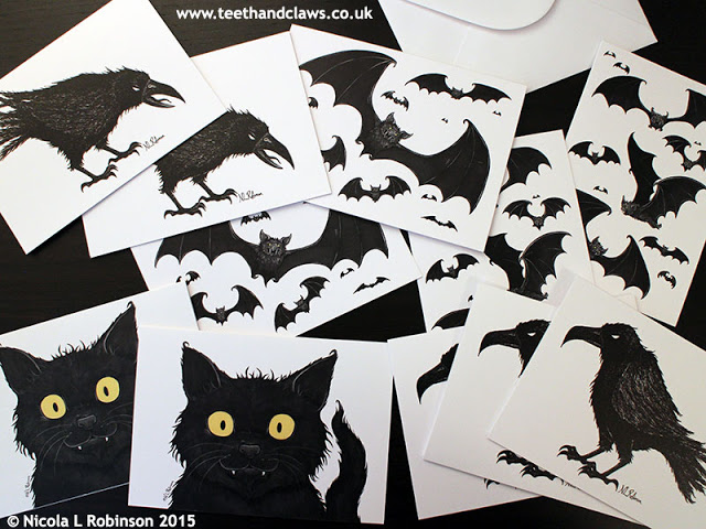 Halloween cards © Nicola L Robinson All rights reserved www.teethandclaws.co.uk