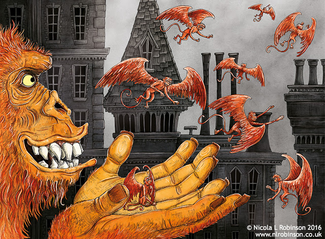 Year of the monkey illustration © Nicola L Robinson. All rights reserved. www.nlrobinson.co.uk
