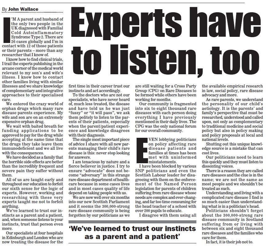 Experts have to listen too - November 27th 2016