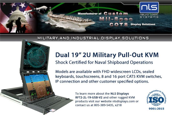 Dual 19in LCD Shock Certified KVM