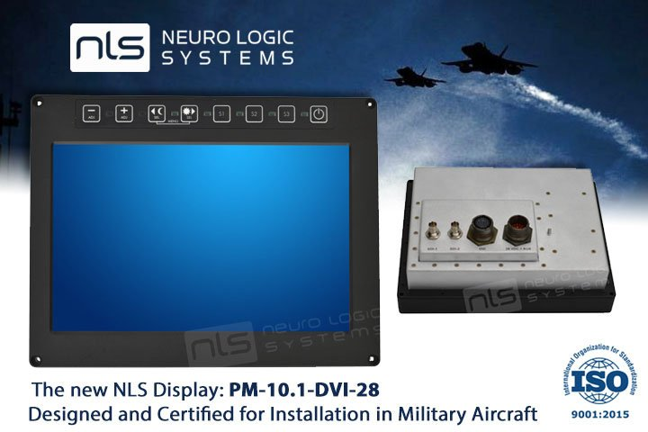 rugged lcd military display PM-10-1-DVI-28