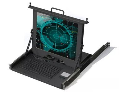 Rackslide Pull-Out Rugged KVM Display