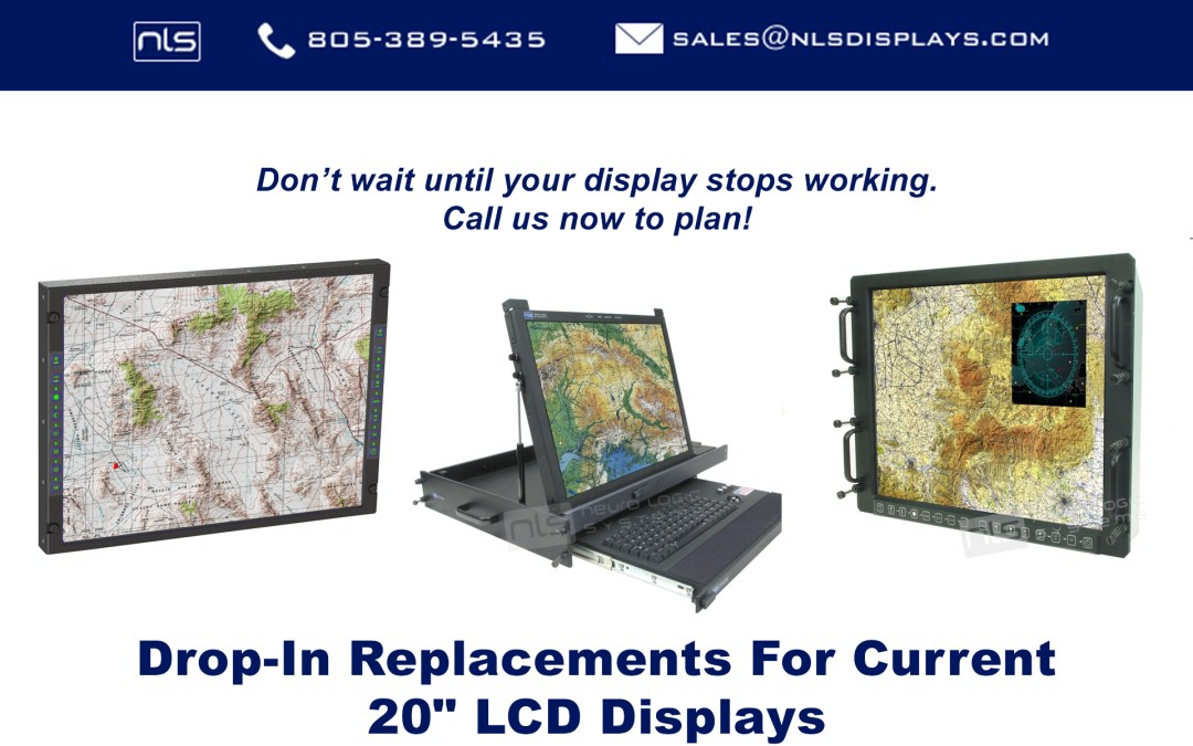 Drop-In Replacements for Current 20 inch Displays