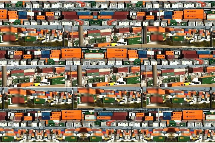 shipping container collage chi