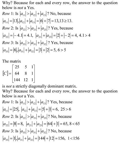strictly diagonally dominant matrix – The Numerical Methods Guy