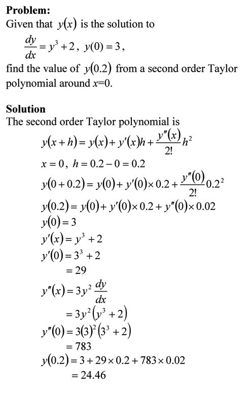 Taylor Series The Numerical Methods Guy