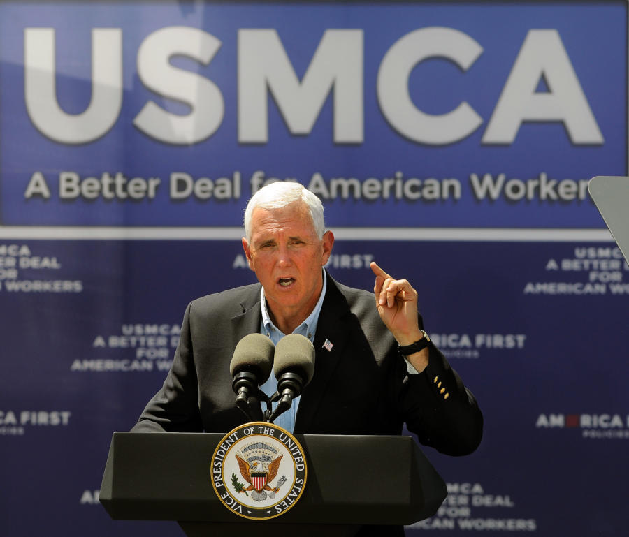 Vice President Mike Pence Visits Artesia to boost support for USMCA agreement