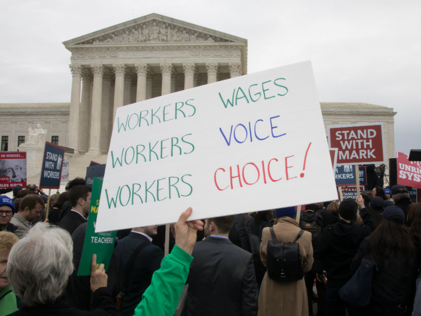 Mandated union dues as a condition of employment under fire in court again