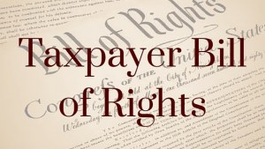 "The House minority whip plans to introduce ""Taxpayer Bill of Rights."""