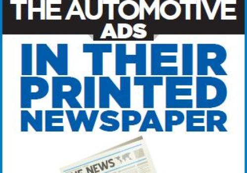 Community newspaper readers notice the automotive ads in their printed newspaper