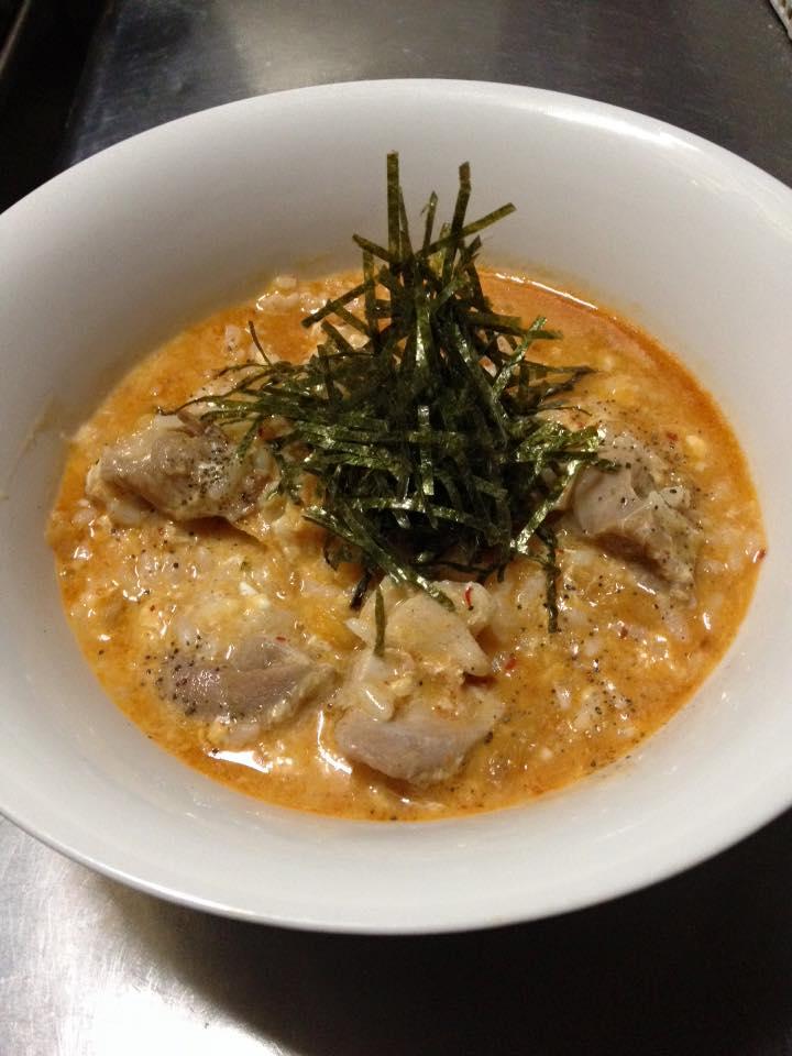 3品目「鶏キムチ雑炊」