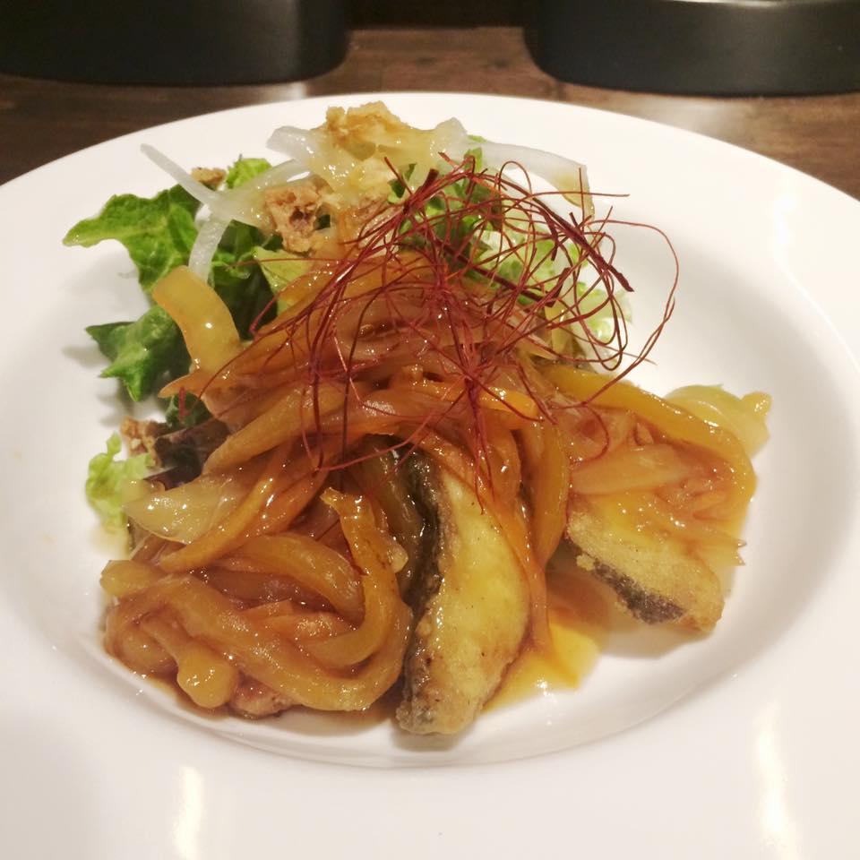 『スパイス寒鱈の甘酢あんかけ定食』