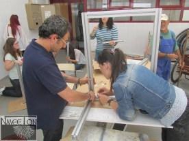 Montagem de modulo com material fornecido pela empresa Costa e Sá