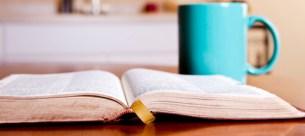 bible and mug