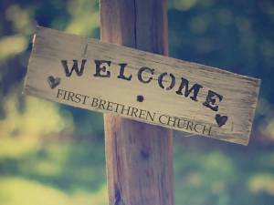 welcome - wooden sign