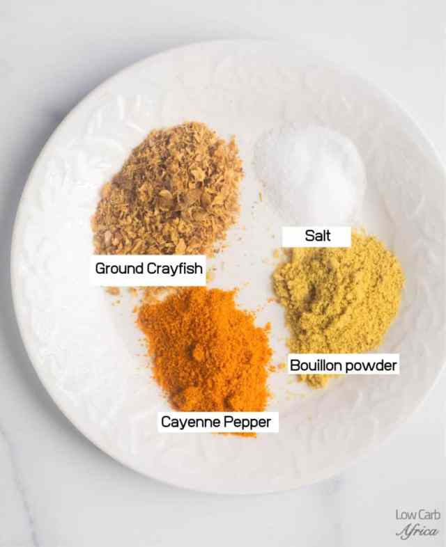 spices on a white flat plate