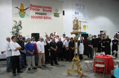 Some of Albuquerque's very best chefs at the 2009 Souper Bowl