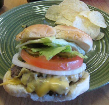 The green chile cheeseburger at The Chili Stop Cafe