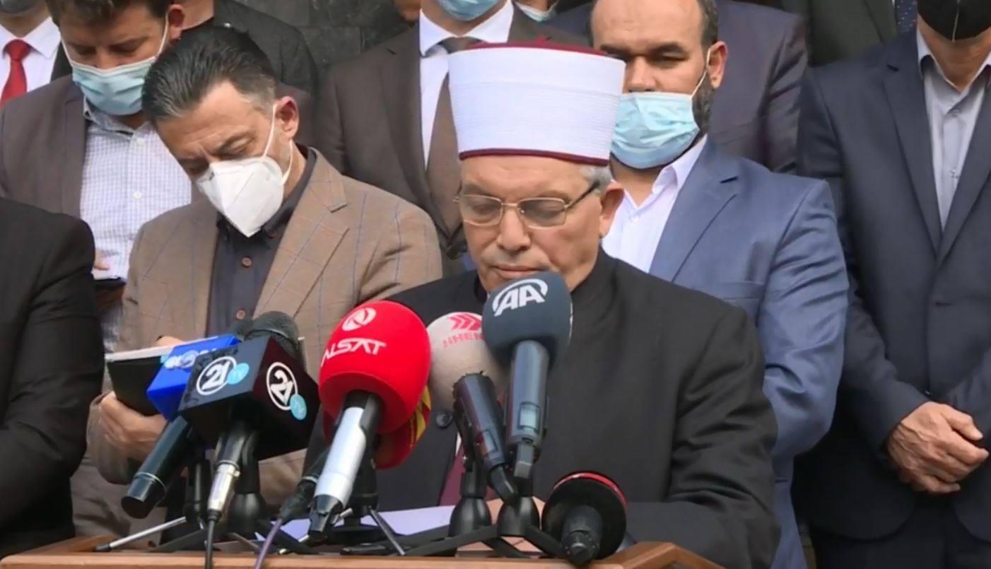 Kryetari i Dijanetit Turk, dr.Ali Erbash uron Shaqir Fetahun (LETRA)