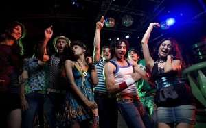 People partying in a club on New Year's Eve