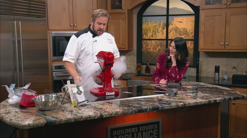 Chef Shawn Bucher demonstrates how to dazzle guests with 30-second vanilla ice cream